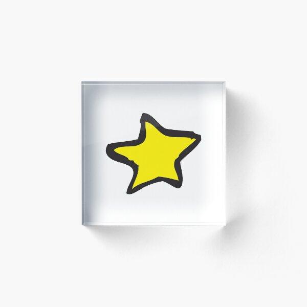 Star Icon Sketch Acrylic Block