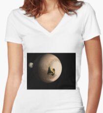 Nearest Pluto Women's Fitted V-Neck T-Shirt
