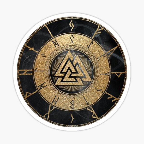 Viking Rune Clock Sticker