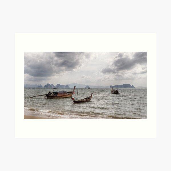 Longtail Boats of Koh Yao Noi Art Print