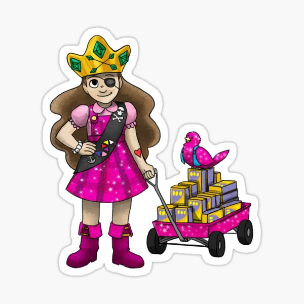 The Old Man and the Pirate Princess Meet a Dragon Sticker