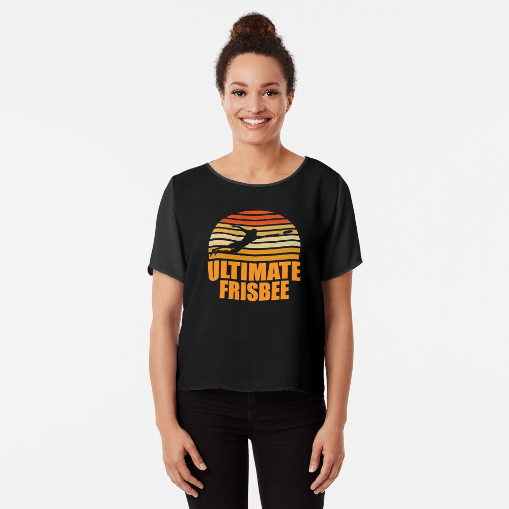 Retro Ultimate Frisbee Player Silhouette Blusa