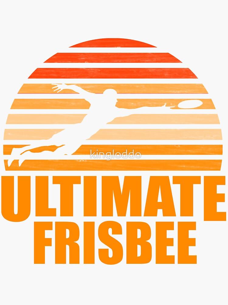 Retro Ultimate Frisbee Player Silhouette de kingloddo