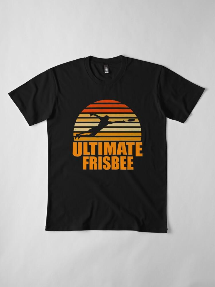 Vista alternativa de Camiseta premium Retro Ultimate Frisbee Player Silhouette