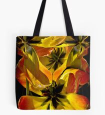 A Fantasy Tangle of Aging Tulips Tote Bag