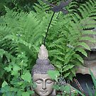 Buddah  in Ferns of  Green by eoconnor
