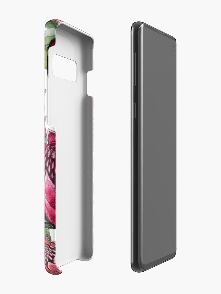 Alternate view of Protea flower Watercolor on white Case & Skin for Samsung Galaxy