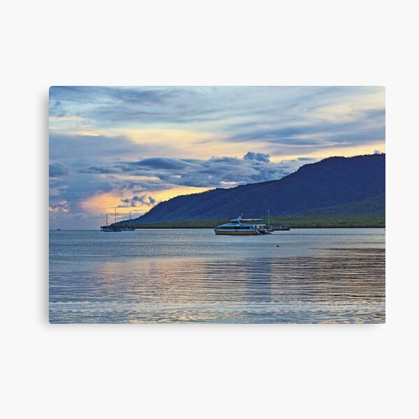 Golden dawn on the inlet Canvas Print