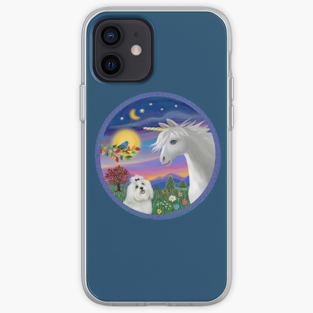 Unicorn and Maltese iPhone Case & Cover