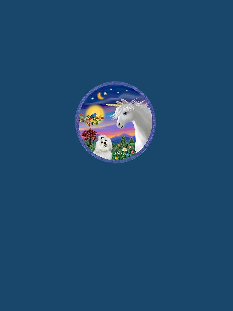 Unicorn and Maltese by JeanBFitzgerald