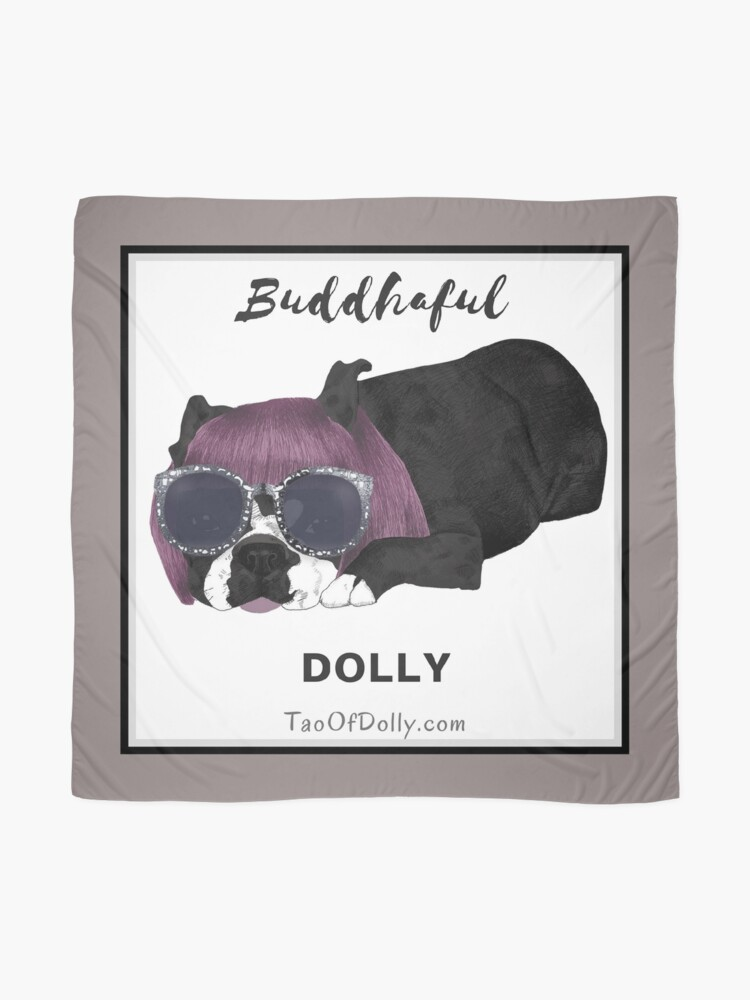 Alternate view of Buddhaful Dolly - Black Border Scarf