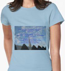 Die Osterbotschaft Tailliertes T-Shirt für Frauen