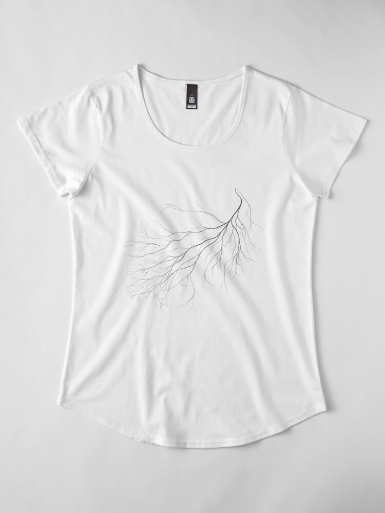 Alternate view of Mycelium (pencil drawing) Premium Scoop T-Shirt