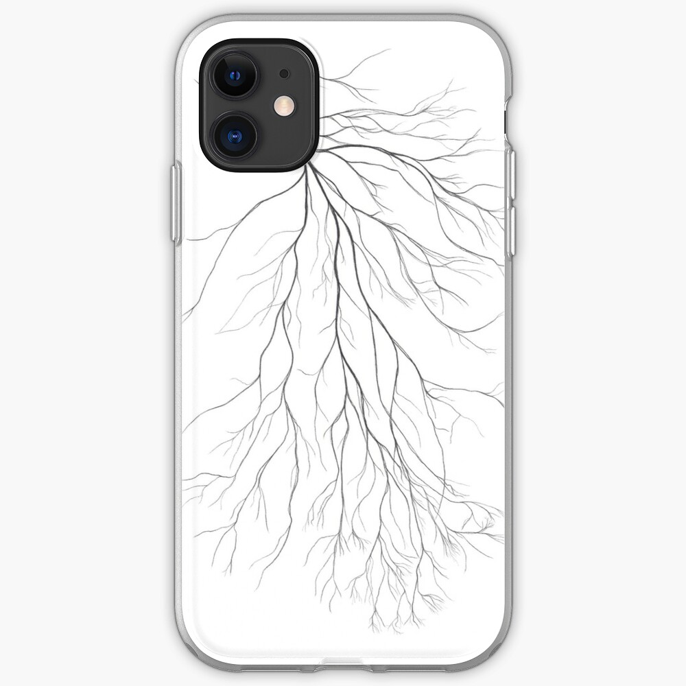 Mycelium (pencil drawing) iPhone Case & Cover