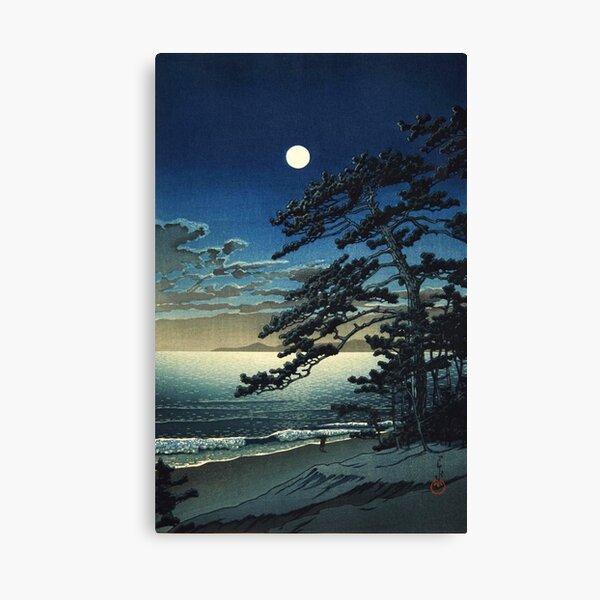Moon over Ninomiya Beach by Kawase Hasui Canvas Print