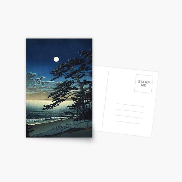 Moon over Ninomiya Beach by Kawase Hasui Postcard