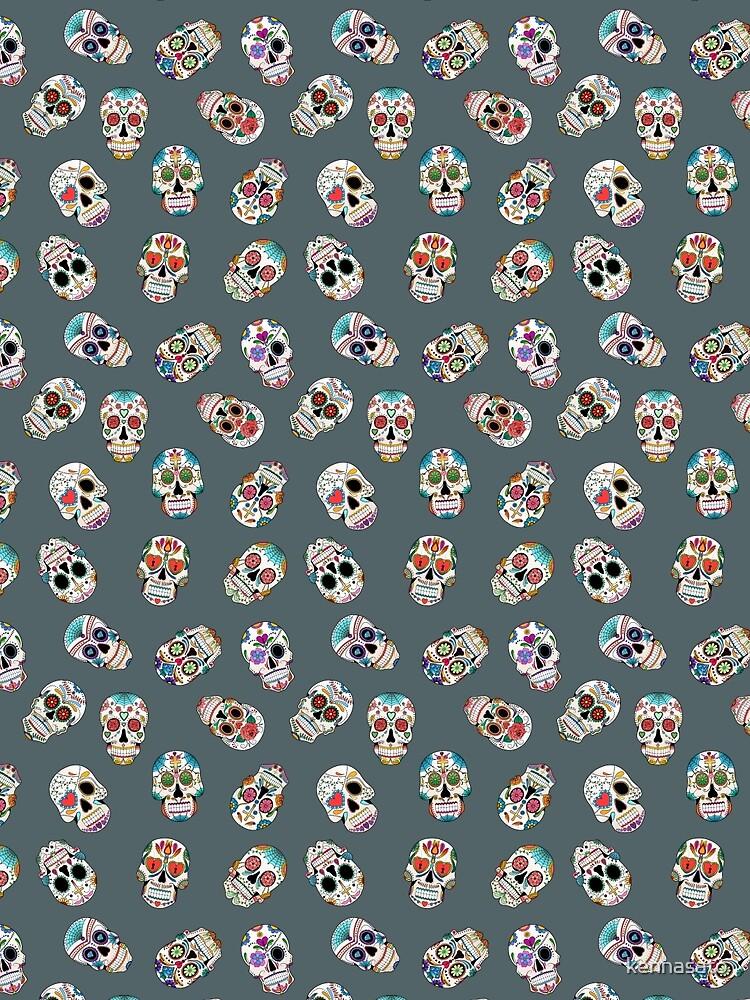 Sugar Skull Seamless Pattern by kennasato