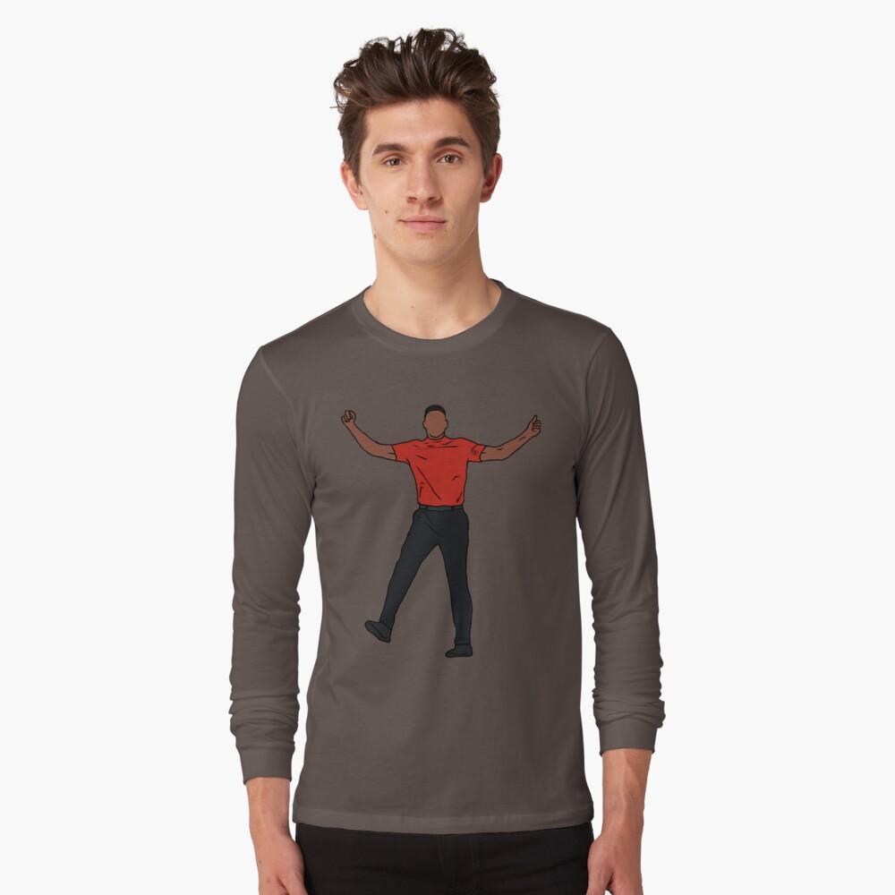 Tiger Woods Celebration Long Sleeve T-Shirt