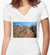 Morialta Conservation Park 2 Women's Fitted V-Neck T-Shirt