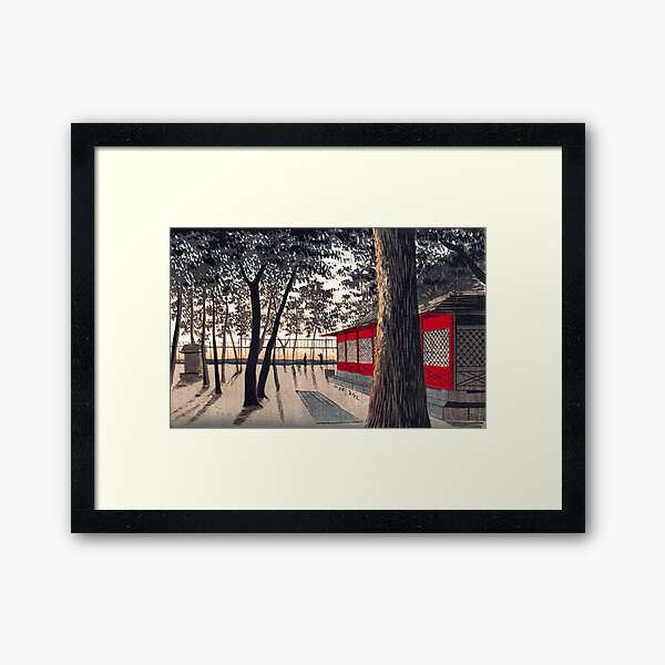 Kanda Shrine at Dawn by Kobayashi Kiyochika Framed Art Print