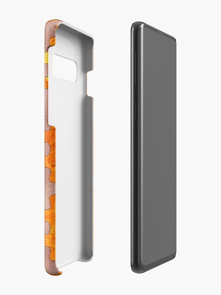 Alternative Ansicht von PUZZLE 1 ROSE GOLD ORANGE MARBLE Hülle & Klebefolie für Samsung Galaxy