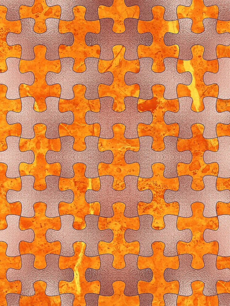 PUZZLE 1 ROSE GOLD ORANGE MARBLE von johnhunternance