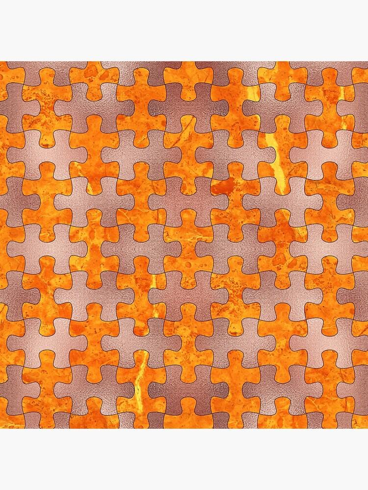 PUZZLE 1 ROSE GOLD ORANGE MARBLE von johnhunternance