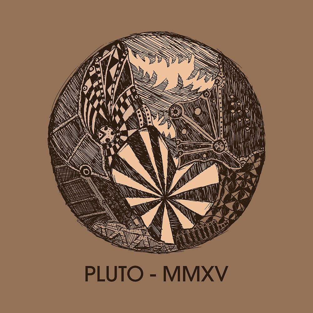 Pluto-Skizze von Hinterlund
