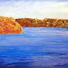Malta Seascape Painting by hurmerinta