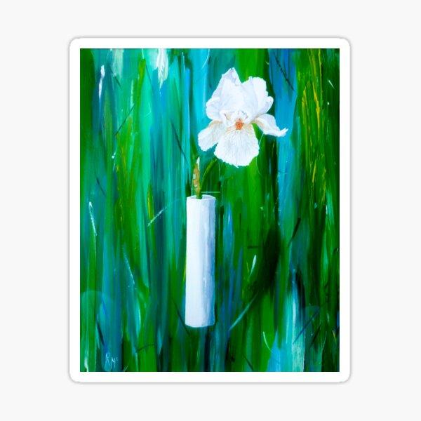 Single Iris in a Vase Sticker
