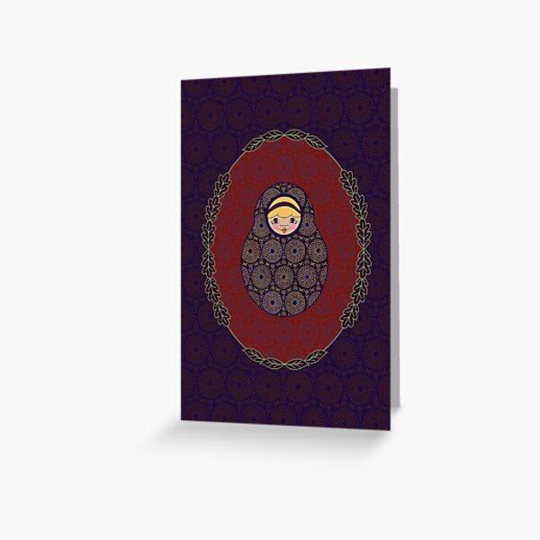 Carte Médaillon . Collection Victorienne . Tiffany Poup's Carte de vœux