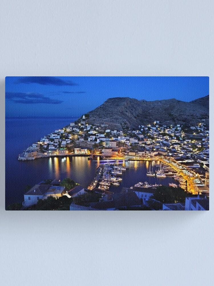 Greece Island Hydra Vintage World Travel Art Poster Print