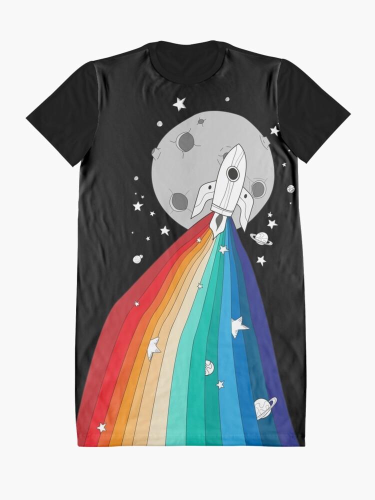 Alternative Ansicht von Stolz Rakete T-Shirt Kleid