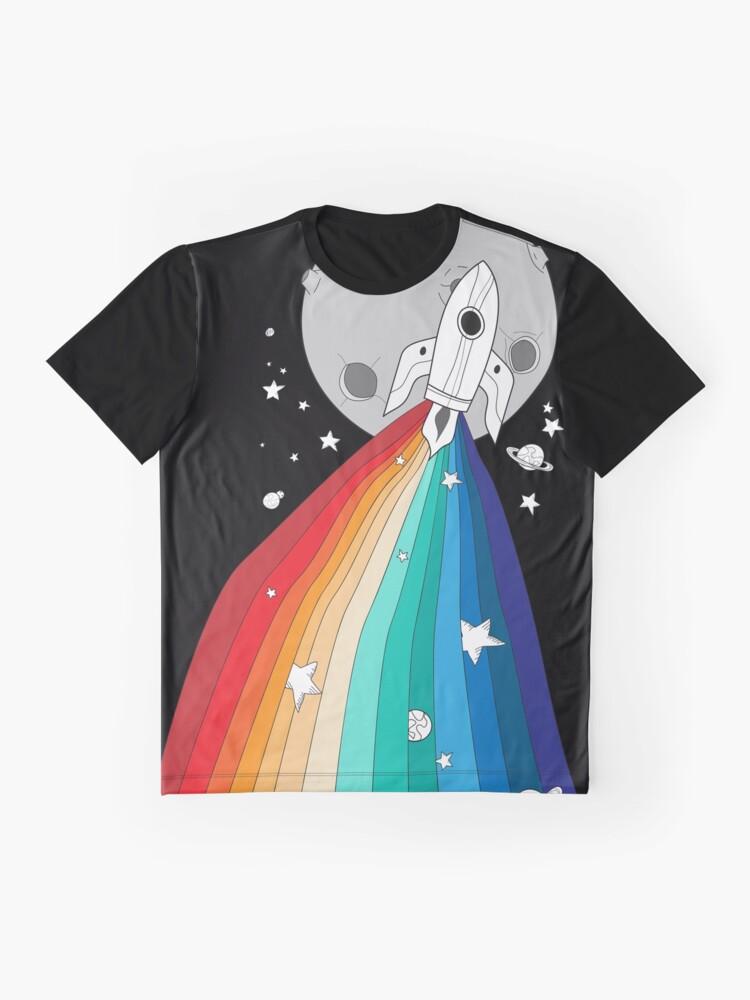 Alternative Ansicht von Stolz Rakete Grafik T-Shirt