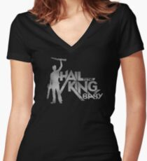 Evil Dead - Hail To The King [Dark] Women's Fitted V-Neck T-Shirt