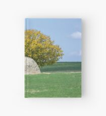 Rock and Tree in Meadow Hardcover Journal