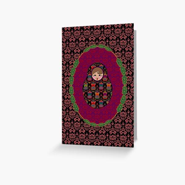 Carte Médaillon . Collection Volga . Mona Poup's Carte de vœux