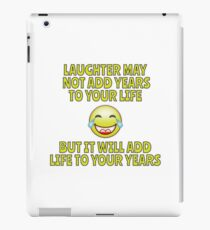 Laugh and Live Longer - Simples iPad Case/Skin