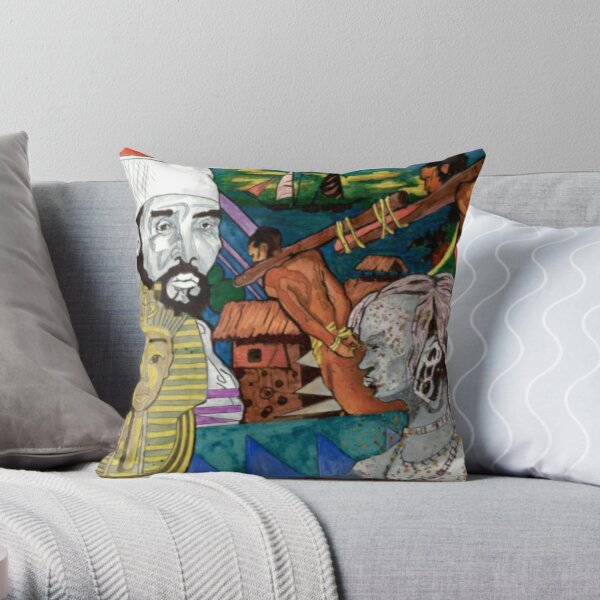 African History.  Then and Now  Throw Pillow