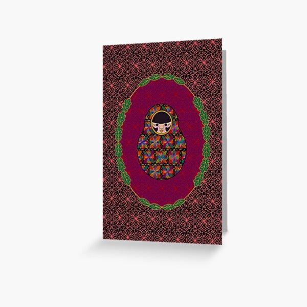 Carte Médaillon . Collection Volga . Michelle Poup's Carte de vœux
