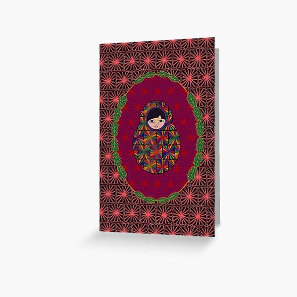 Carte Médaillon . Collection Volga . Nikki Poup's Carte de vœux