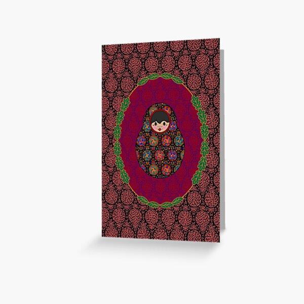 Carte Médaillon . Collection Volga . Stella Poup's Carte de vœux