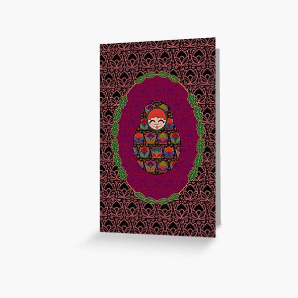 Carte Médaillon . Collection Volga . Diane Poup's Carte de vœux