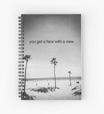 face with a view Spiral Notebook