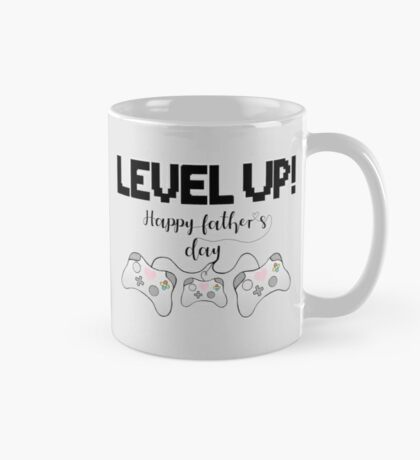 Gamer Fathers Day T Shirt! - LEVEL UP! Happy Father's Day! Mug
