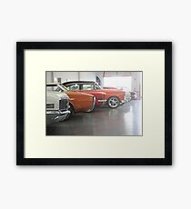 Muscle-car Garage Framed Print