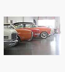 Muscle-car Garage Photographic Print