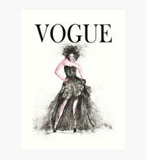 Fashion VOGUE woman Art Print