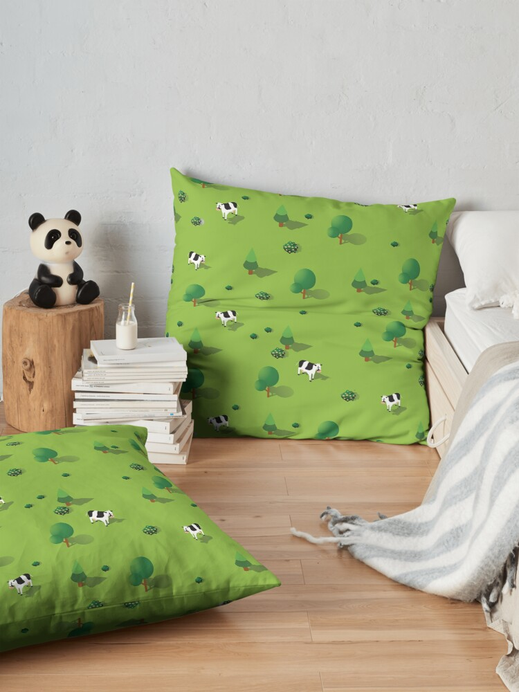 Alternate view of Farm countryside Floor Pillow