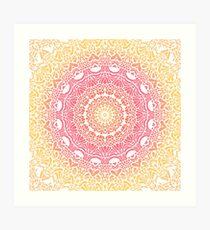Grapefruit and Lemon Mandala Art Print